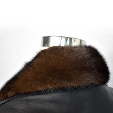 男装棉衣尼克服羽绒服毛呢大衣通用方领进口国产水貂毛领可以定做