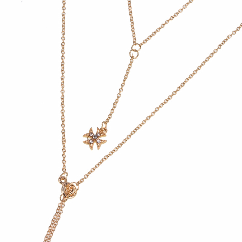 Alloy Fashion Geometric necklace(2508 Gold) NHWF3252-2508 Gold