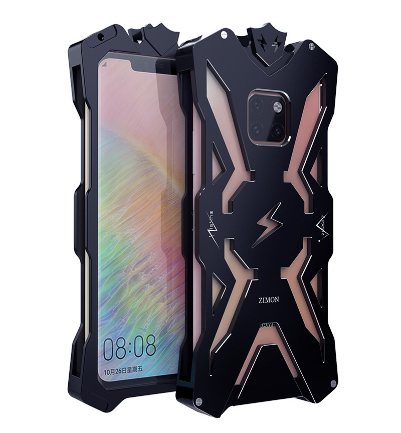 SIMON THOR Aviation Aluminum Alloy Shockproof Armor Metal Case Cover for Huawei Mate 20 Pro & Huawei Mate 20 X & Huawei Mate 20