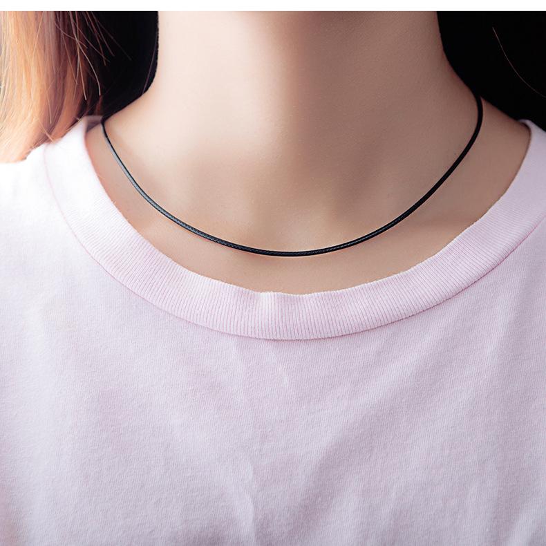 Alloy Korea Geometric necklace  (Leather rope diameter 2mm) NHOP2966-Leather-rope-diameter-2mm