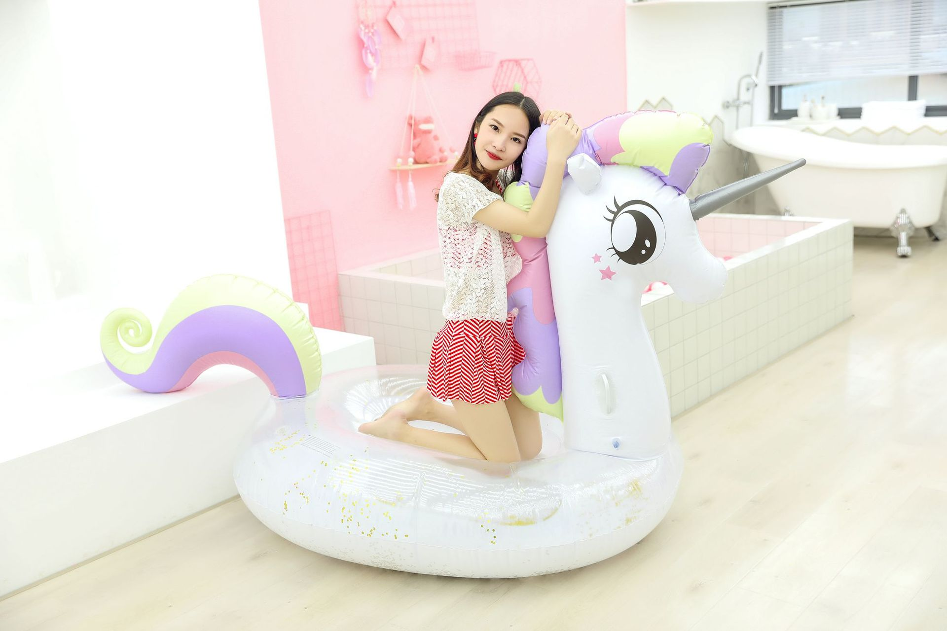 Stylish and simple inflatable color Pegasus PVC floating row NHWW142493