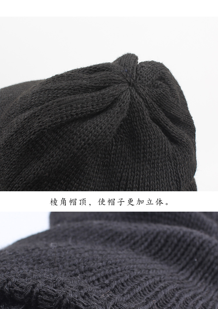 Winter hat outdoor cycling hooded cap double-layer thick warm masked hat cold protection earmuffs NHXO184932