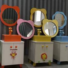 批发幼儿园卫生间浴室镜子 彩色卡通镜子 卫浴镜 米奇太阳花挂镜