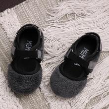 Giày trẻ em 2019 mùa thu mới cho bé gái Giày lông thú trẻ em Giày đế mềm đế mềm cho bé Giày trượt bé Giày công chúa