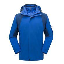 戶外沖鋒衣冬季加絨加厚三合一男女兩件套防風防水拆卸潮牌登山服