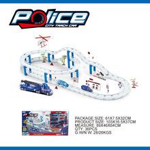 新款創意合金滑行軌道車警察城市 新奇特多層軌道車自主DIY套裝