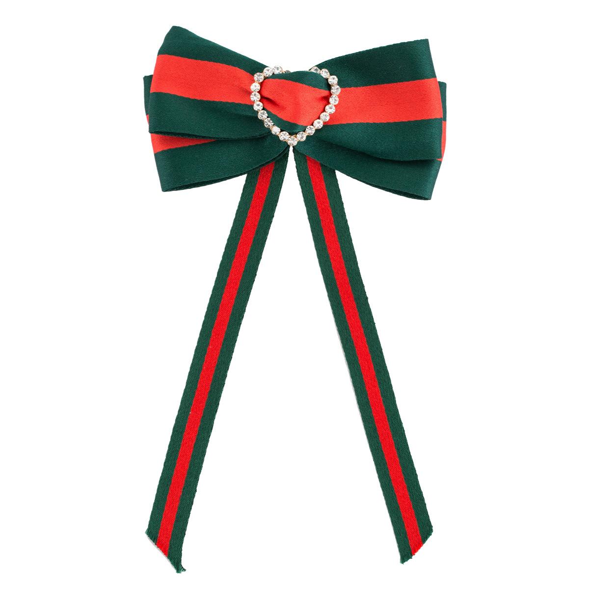 Alloy Fashion Bows brooch  (Striped love) NHJE1947-Striped-love