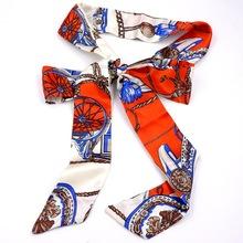 布条腰带 女士雪纺印花布带 休闲百搭打结裤带可配包包装饰带头饰