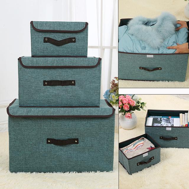 收纳箱牛津纺大号家用折叠归纳整理储物箱子帆布艺装衣服收容纳盒
