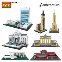 散批 loz俐智拼装小颗粒积木世界著名建筑物1001-1020系列mini