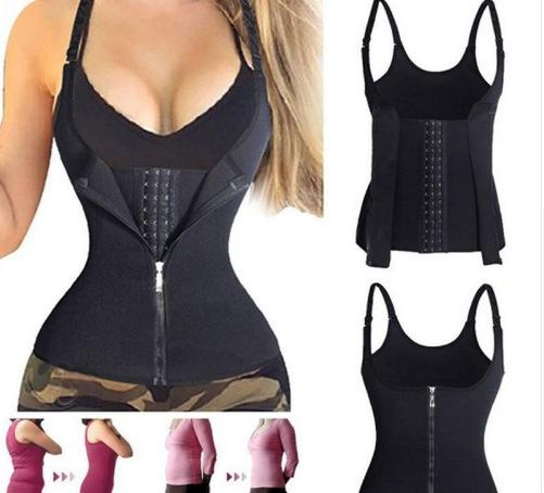 收腹束腰宫廷拉链塑身衣批发 三排扣可调节性感瘦身塑身内衣定制