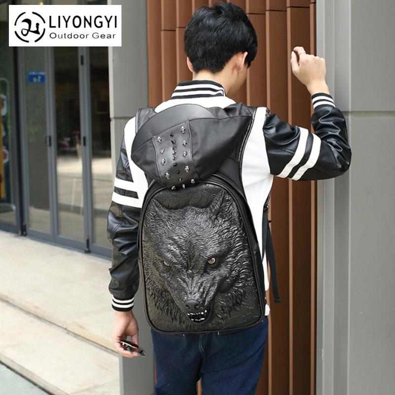 广州厂家批发双肩背包 潮裤酷个性3d学生电脑书包男女式单肩包包