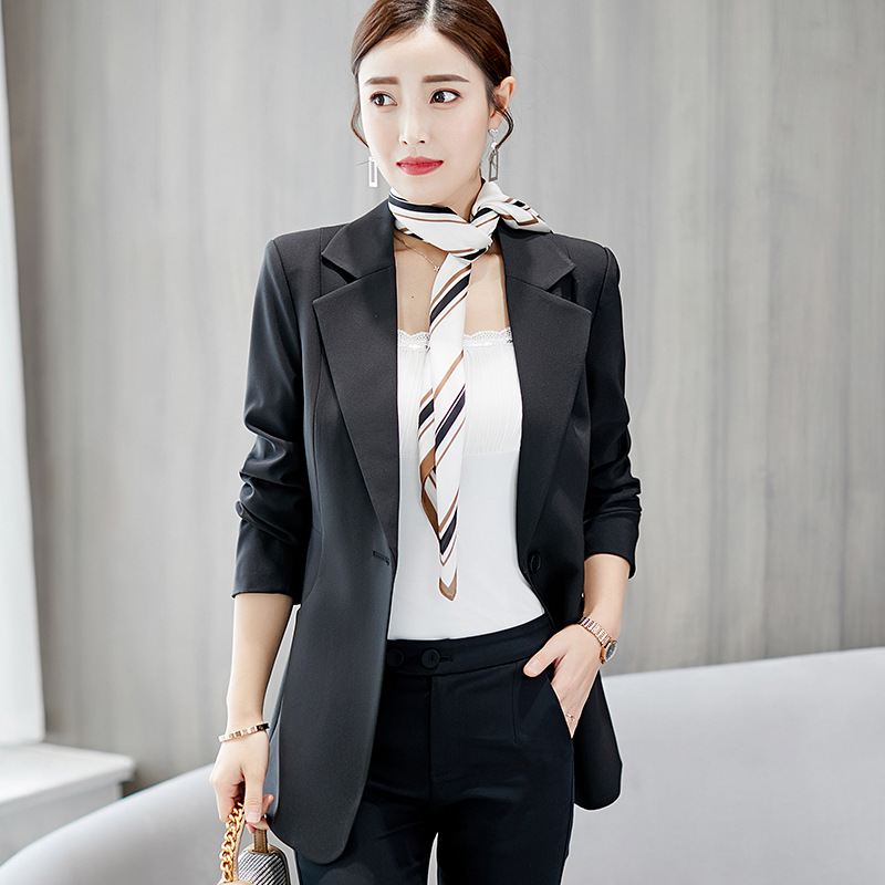 Cheap Sale New Spring Autumn Blazer Suit Women Korean Slim Show Thin Solid Ladies Blazers Suit Gray Blue Green White Small Suit Work Wear Blazers Back To Search Resultswomen's Clothing