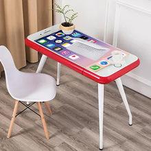 創意電腦桌蘋果手機造型桌子家用學生寫字桌鋼化玻璃面多用途桌子