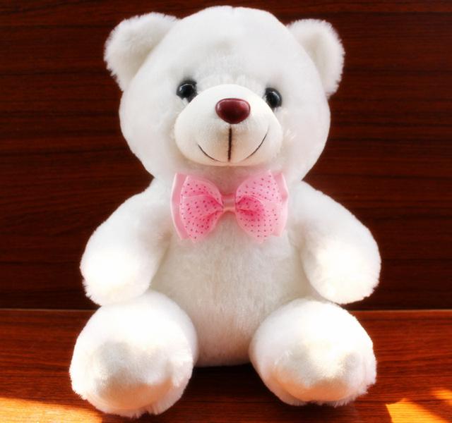 【淘货源】2018新款毛绒玩具正品白色泰迪熊热卖公仔玩偶生日礼物