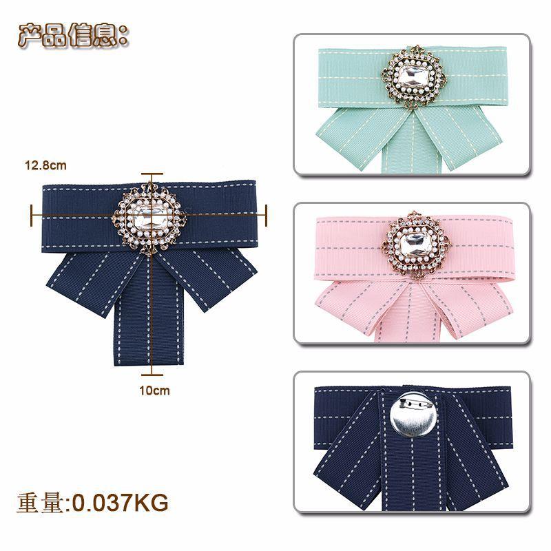 Alloy Fashion Bows brooch  (Dark blue) NHJQ10009-Dark blue