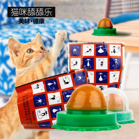 Cat đường  Le mạnh mẽ dinh dưỡng bóng năng lượng bóng hai mặt dính rắn thú cưng kẹo mút mèo nhà máy bán đồ ăn nhẹ trực tiếp