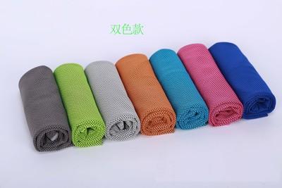 廠家直銷降溫速干冷感運動毛巾定制款跑步擦汗冰涼運動冷感毛巾