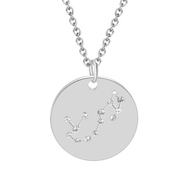 Creative new 12 constellation tag items decorated with European and American jewelry hot fashion diamond titanium steel necklace jewelry