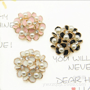 Seven pearl clover flowers, mobile phone stickers, diamonds, hair accessories, alloy flower trays, bride hand sticks, DIY accessories