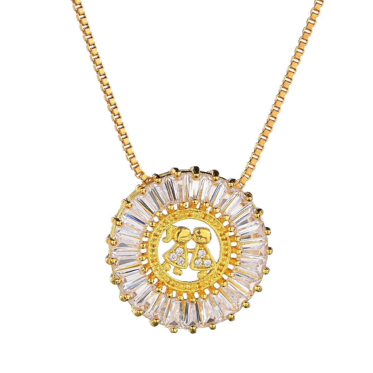 Alloy Korea Sweetheart necklace  (Alloy) NHBQ1676-Alloy