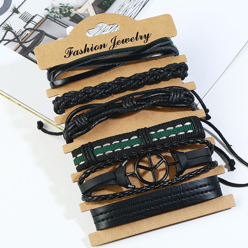 Leather Fashion bolso cesta bracelet  (Six-piece set) NHPK2171-Six-piece-set