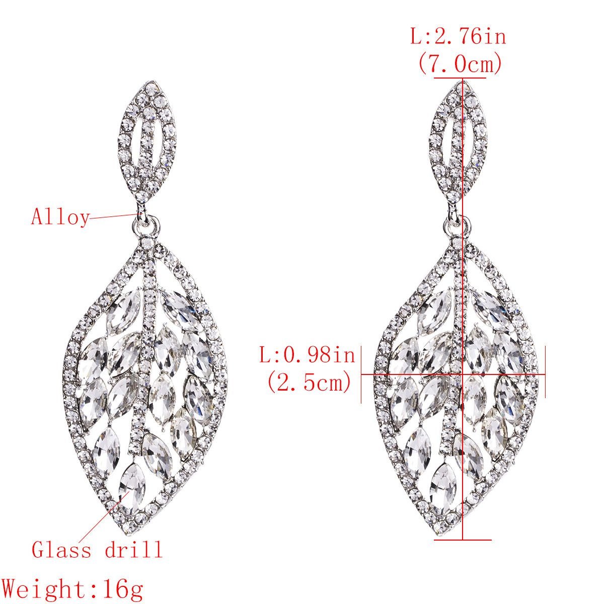 Alloy Fashion Geometric earring  (Alloy) NHJE1502-Alloy
