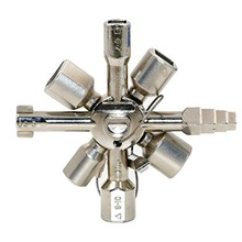 Multi-function electric control cabinet inside the triangle key wrench elevator water meter valve 10-in-1 cross key