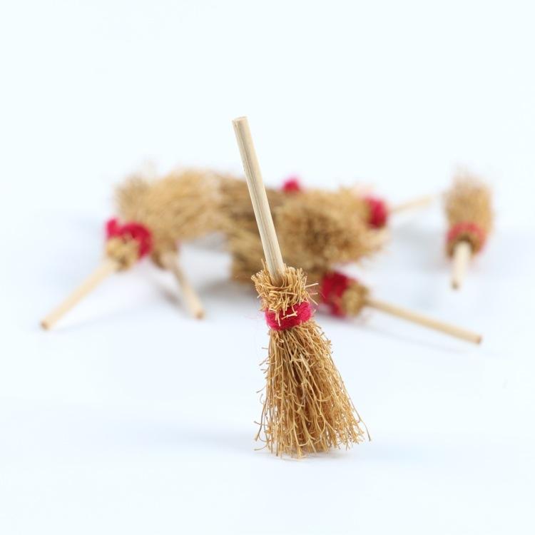DOLLHOUSE 微缩食玩场景模型 小布娃娃屋配件 迷你大号扫把扫帚