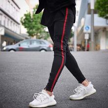 速賣通破洞牛仔褲男夏季修身破洞褲腳拉鏈廠家甩賣外貿爆款小腳褲