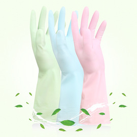 PUV dishwashing gloves Household cleaning gloves Kitchen decontamination non-stick oil waterproof housework gloves thin section