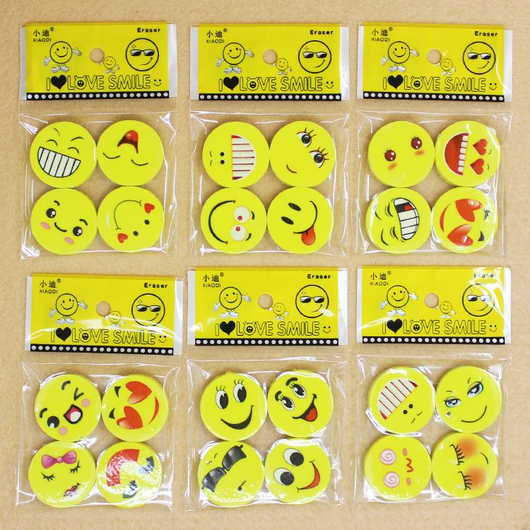 Cartoon Mặt cười tẩy Hàn Quốc văn phòng phẩm sáng tạo đồ dùng học tập học sinh khuôn mặt dễ thương giải thưởng sinh nhật cao su