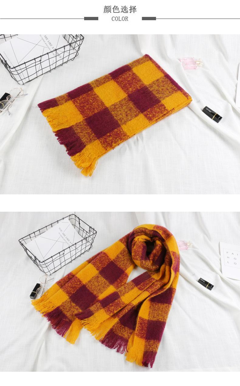 Cloth Korea  scarf  (Orange plaid) NHCM1706-Orange-plaid