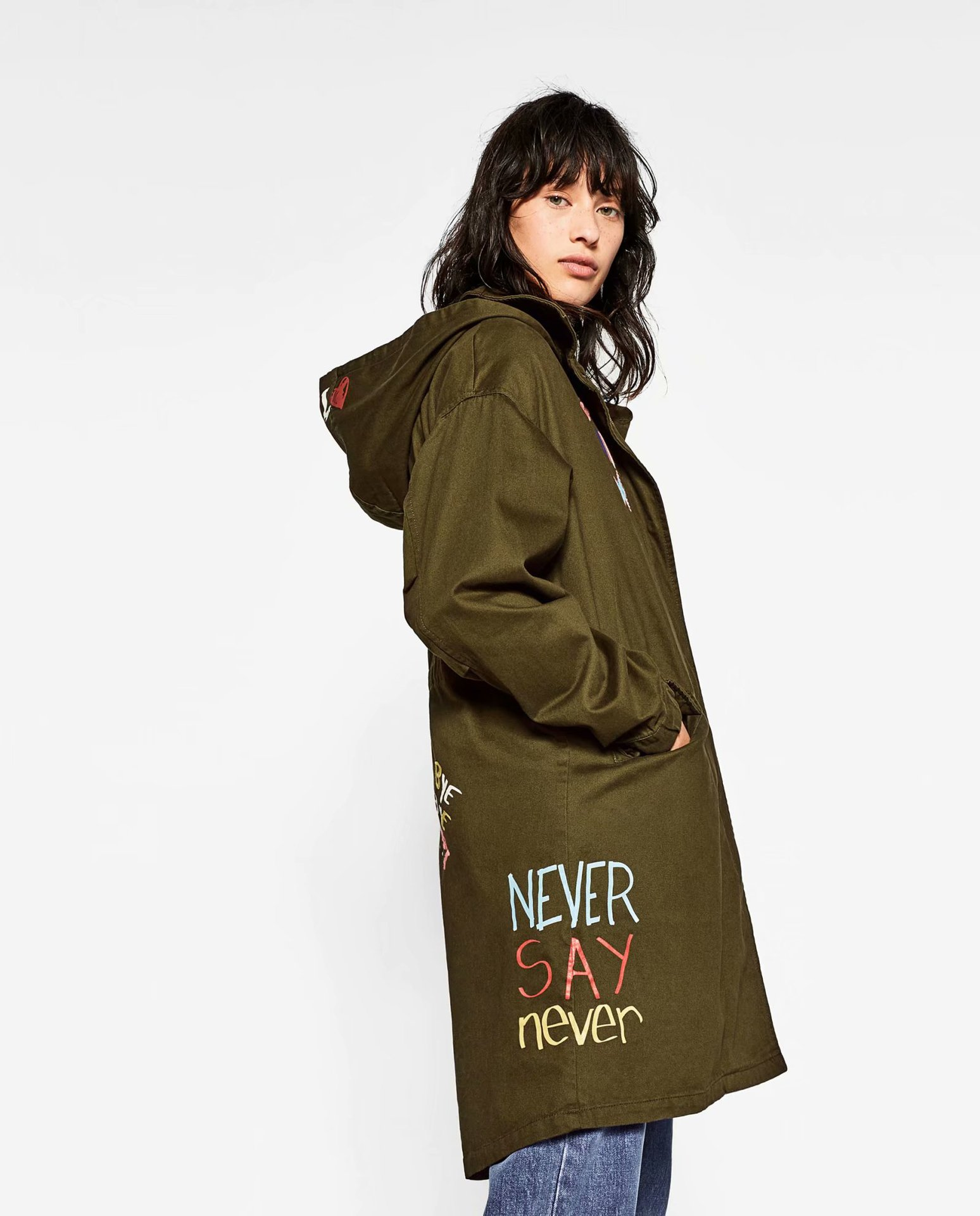 Cotton Fashion  coat  (Army Green-S) NHAM6789-Army-Green-S