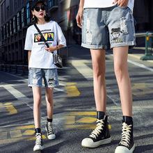 实拍孕妇牛仔短裤夏外穿薄款新款夏装托腹打底裤宽松裤子孕妇短裤