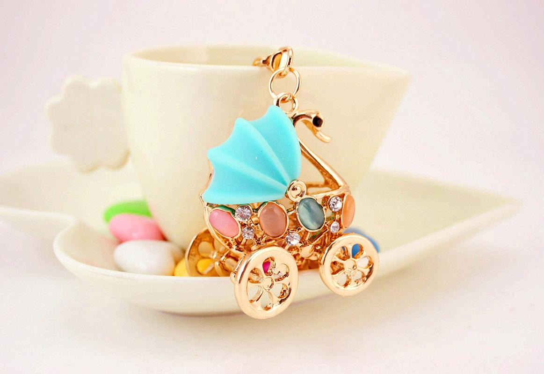 Creative cute baby carriage shape keychain  NHAK267069