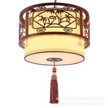 中式仿古木藝燈餐廳茶樓過道酒店火鍋店中國風羊皮大吊燈廠家直銷