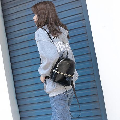 Túi đeo vai Nhật Bản và Hàn Quốc Thời trang mới Mini Vintage Oily Small Ba lô Casual Joker Shoulder Messenger