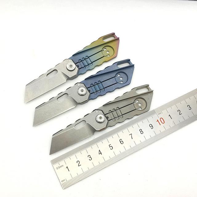 现货户外随身小折刀S35VN迷你小刀钛合金折叠刀高硬度礼品刀具