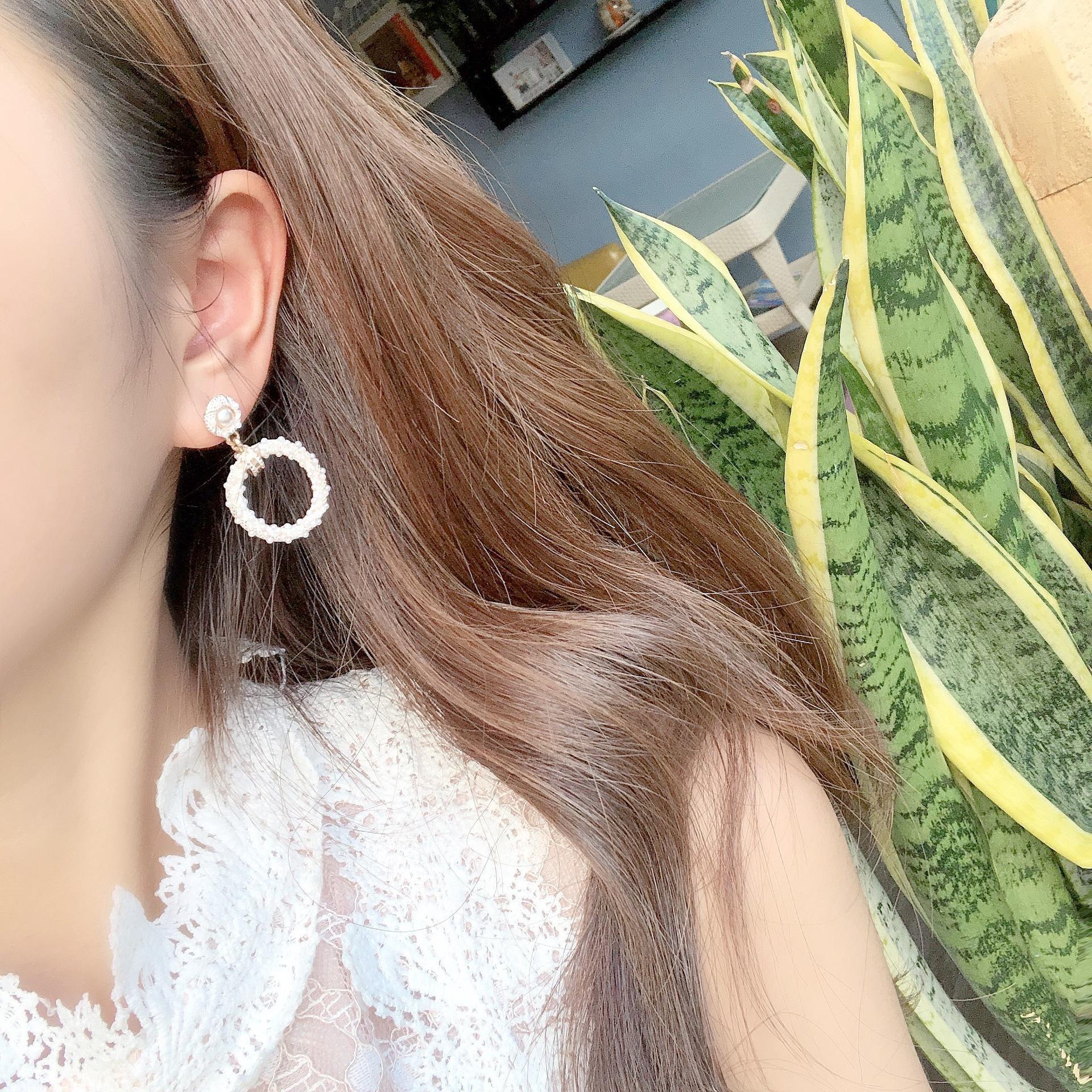 Alloy Fashion Geometric earring  (white) NHYT1333-white