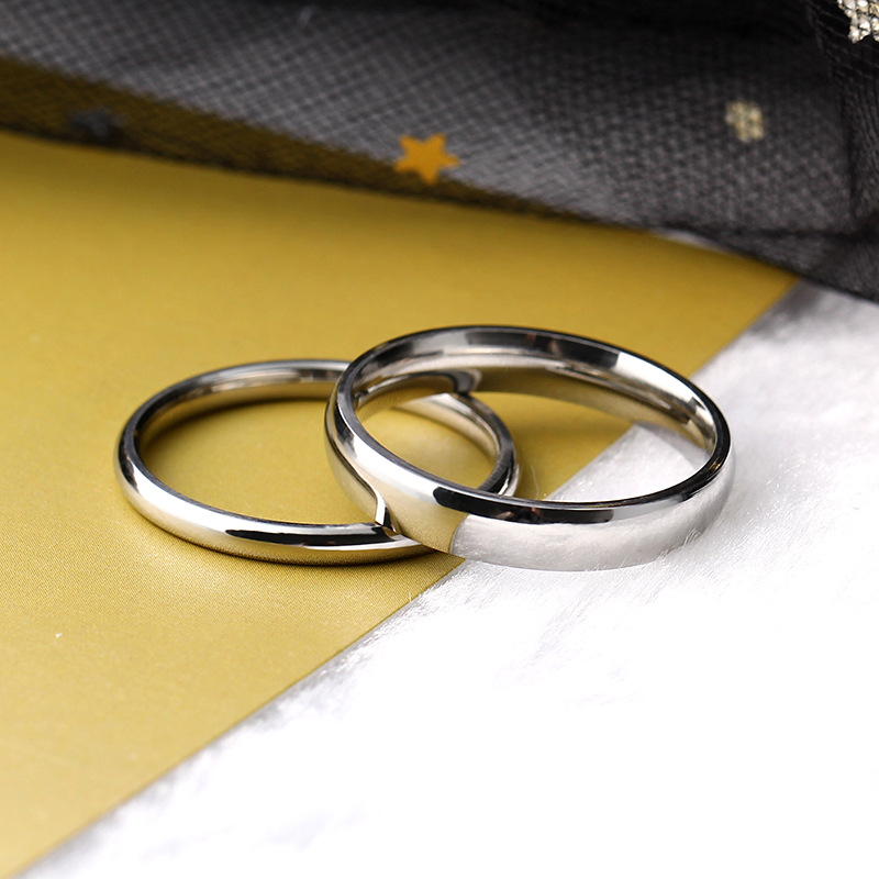 Titanium steel plain ring couple rings gold plated men and women rings gold stainless steel bracelets wholesale NHIM199964