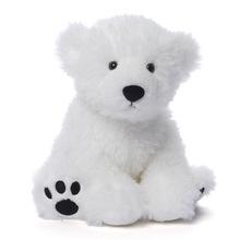 定制坐姿20厘米pv绒北极熊毛绒玩具热销羽绒棉吉祥物趴趴熊公仔