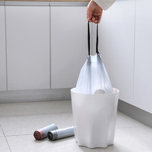 2379 Drawstring beam mouth garbage bag kitchen thickening roll loading garbage bag portable disposable household plastic bag