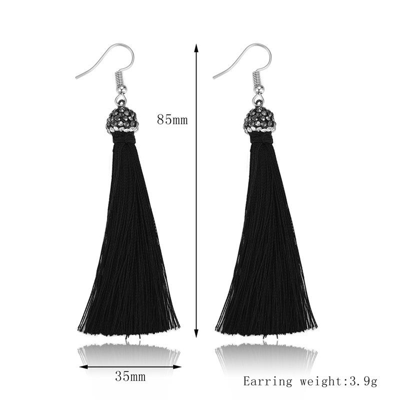 Alloy Fashion Tassel earring  (61189524) NHXS1965-61189524