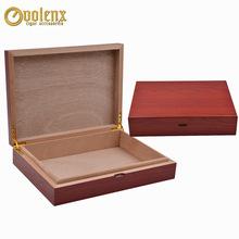 批发 10支装红色樱桃木纹雪茄保湿盒桃花芯雪茄包装木盒 WLH-0169