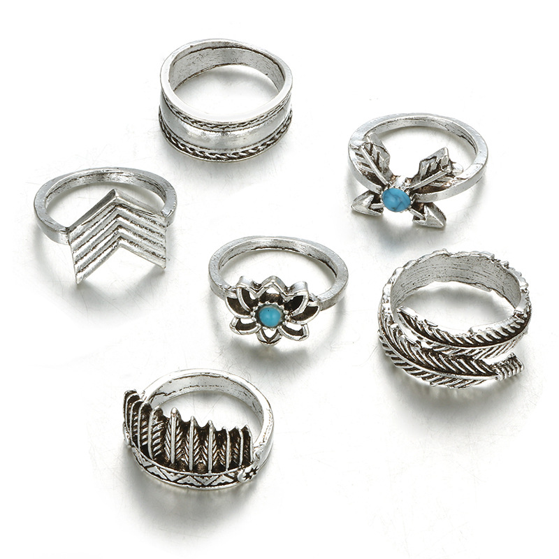 Alloy Simple Geometric Ring  (Alloy) NHGY2181-Alloy