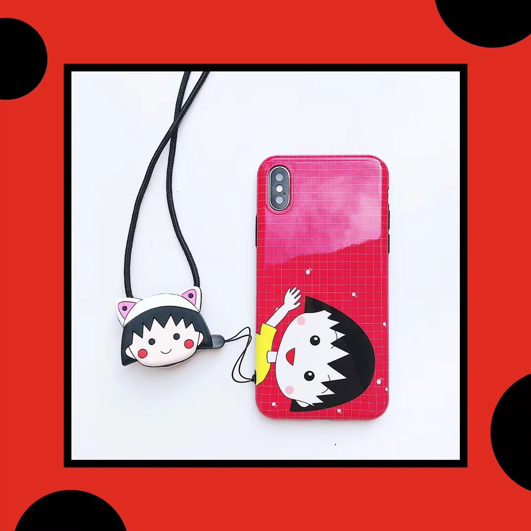 Cartoon small ball apple 6Plus mobile phone shell X soft plastic female iPhone7 small new 6s couple models 8 protective cover 7P