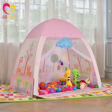 儿童玩具床上帐篷潮 卡通粉色儿童室内外玩具收纳游戏屋厂家批发