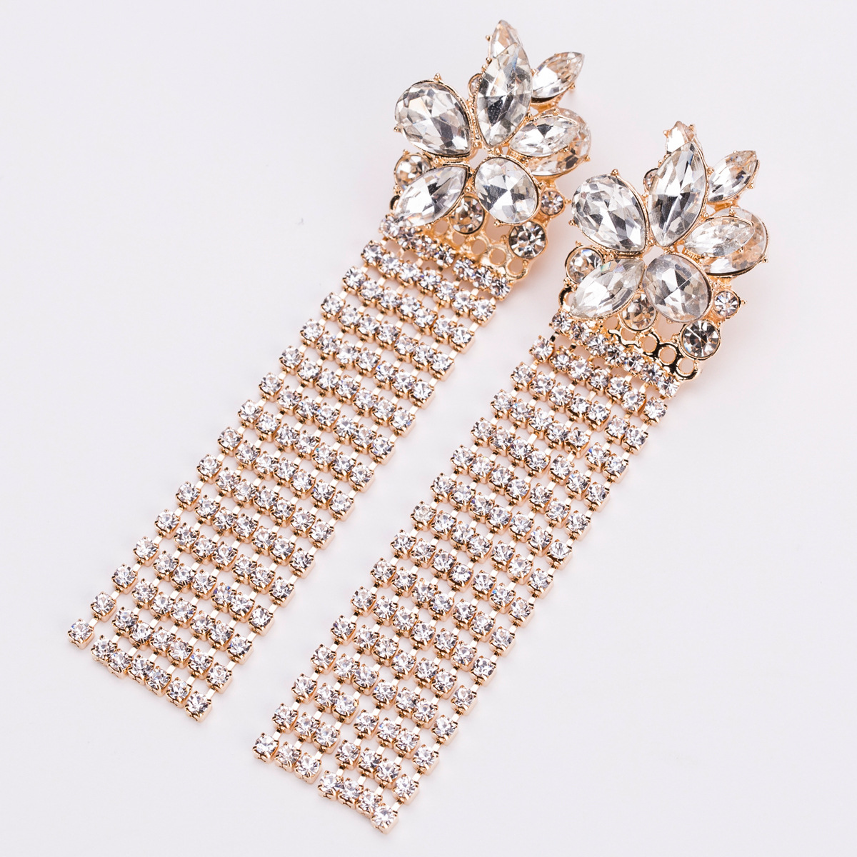 Alloy Fashion Flowers earring(KC Gold) NHJE1324-KC-Gold