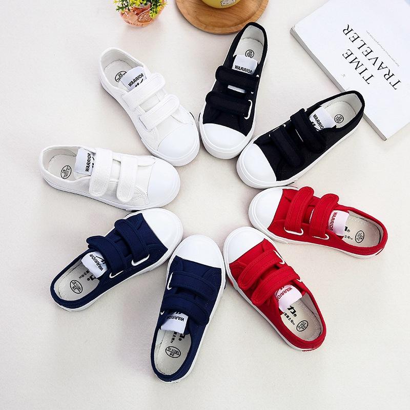 回力童鞋宝宝帆布鞋男童女童学生鞋魔术贴休闲鞋儿童运动鞋子批发